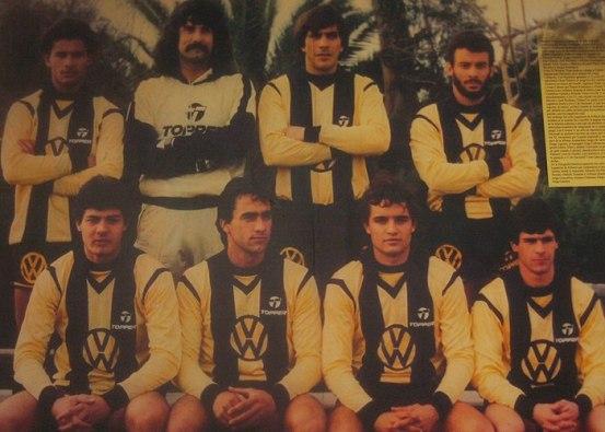 Top: Eduardo Silva, Eduardo Pereira, Obdulio Trasante, Alfonso Dominguez Bottom: El Tito Goncalvez, Gustavo Matosas, Diego Aguirre, Jorge Cabrera
